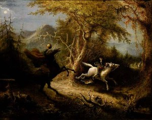 John Quidor, The Headless Horseman Pursuing Ichabod Crane, 1858, oil, 26 7/8 x 33 7/8 in., Smithsonian American Art Museum, Museum purchase made possible in part by the Catherine Walden Myer Endowment, the Julia D. Strong Endowment, and the Director's Discretionary Fund, 1994.120