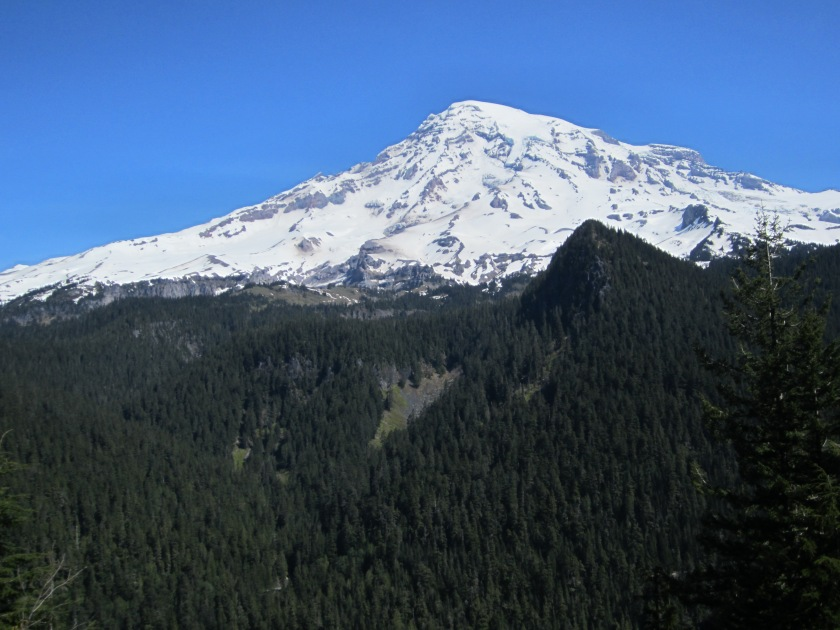 A high sighting of Mt. Rainier. It was a perfectly glorious day - barely a cloud in the sky. [Image: Sarah Ruth Wilson]