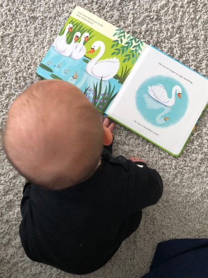 Baby with storybook